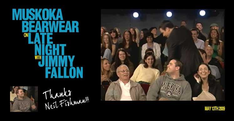 Muskoka Bear Wear on Jimmy Fallon