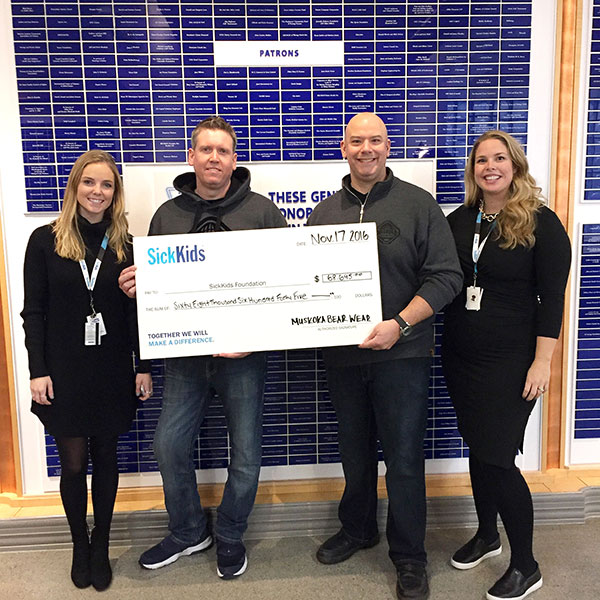 Our 2016 SickKids Donation